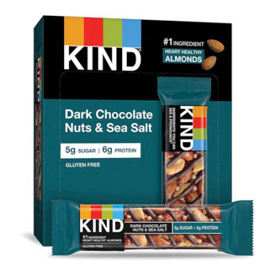 Tasty gluten-free, low sugar Nuts & Sea Salt bars, 12 to a box.