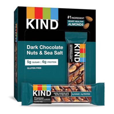 Tasty gluten-free, low sugar Nuts & Sea Salt bars, 12 to a box.