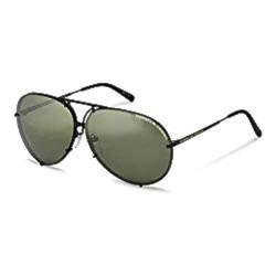 Stylish, sporty black lens and frame sunglasses.