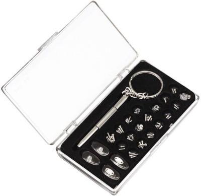 Sunglasses and eyeglasses repair parts, nose piece, screws, in convenient kit.