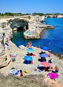 Enjoying the sunshine in Puglia, Italy