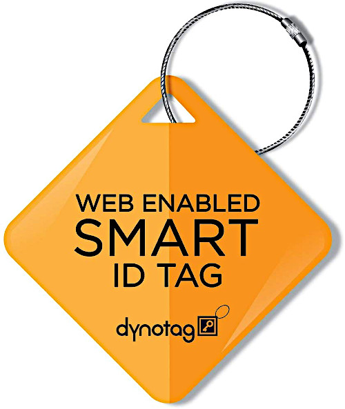 Strong steel coated bag or luggage tag for tracking lost items.