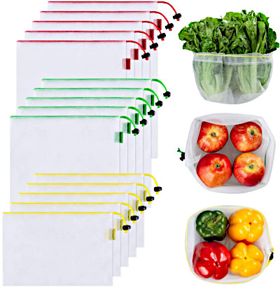 Reusable veggie bags reduce reliance on plastic