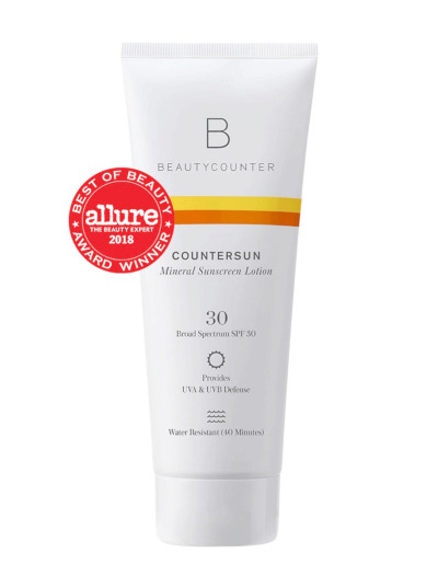 Healthy mineral based sun tan lotion with 30 SPF protection.