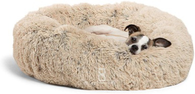 Plush bed bed for all size pets and easy to clean.