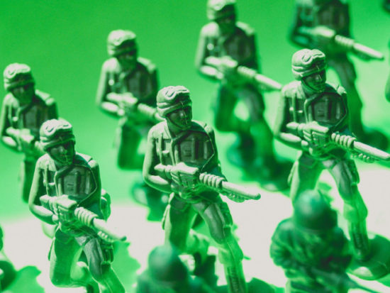 how to reduce my carbon footprint - Plastic soldiers mass produced