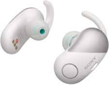 Easy to wear for sports Sony in-ear discreet headphones.