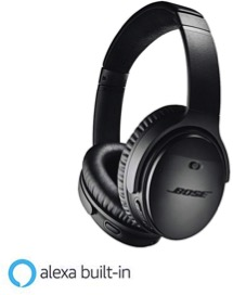 Comfortable, padded headphones by top sound products manufacturer BOSE.