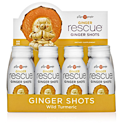 Individual 12 pack Ginger and turmeric shots to stay healthy during cold and flu season