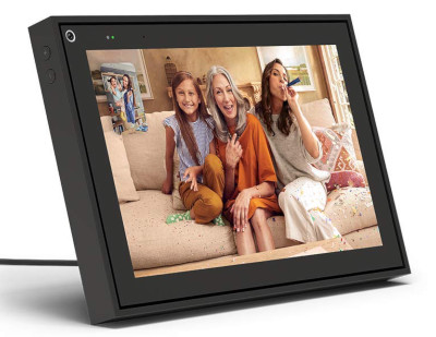 Communicate and see family and friends over table top screen.