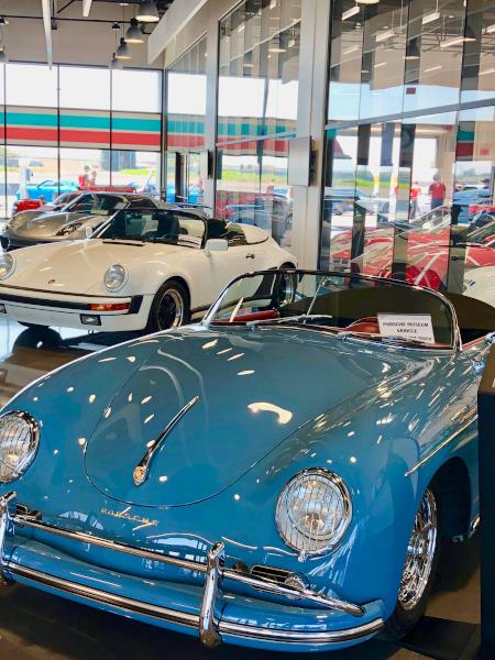 Museum of Porsche cars on display in LA Porsche Driving Center
