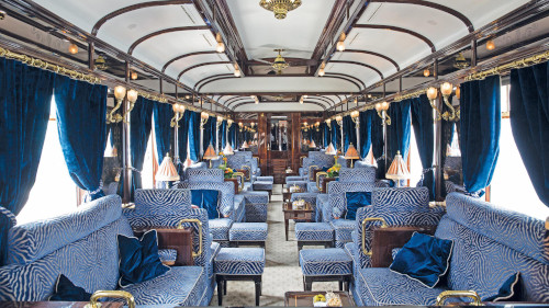 Luxury Train Travel -The Piano Bar Venice Simplon-Orient Express