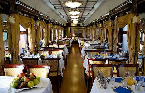 Inside the Trans-Siberian dining car