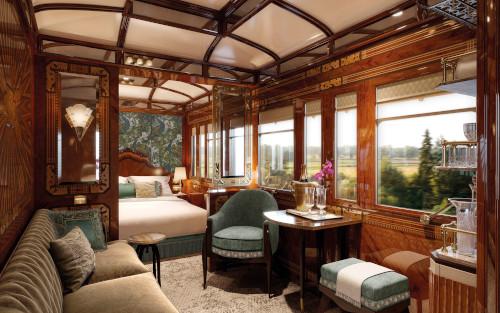 A Luxury sleeper suite on the Venice Simplon-Orient Express