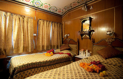 Luxury Train Travel -A luxurious suite on India's Palace on Wheels