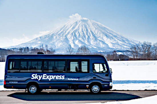 Sky Express shuttle service to ski resorts in Japan