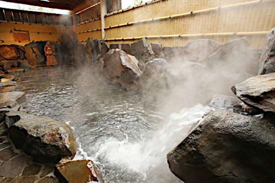 Relax in the hot Springs at the Madarao Ski Resort Japan