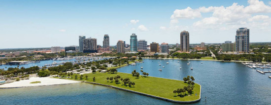 The city skyline of St. Petersburg, Florida