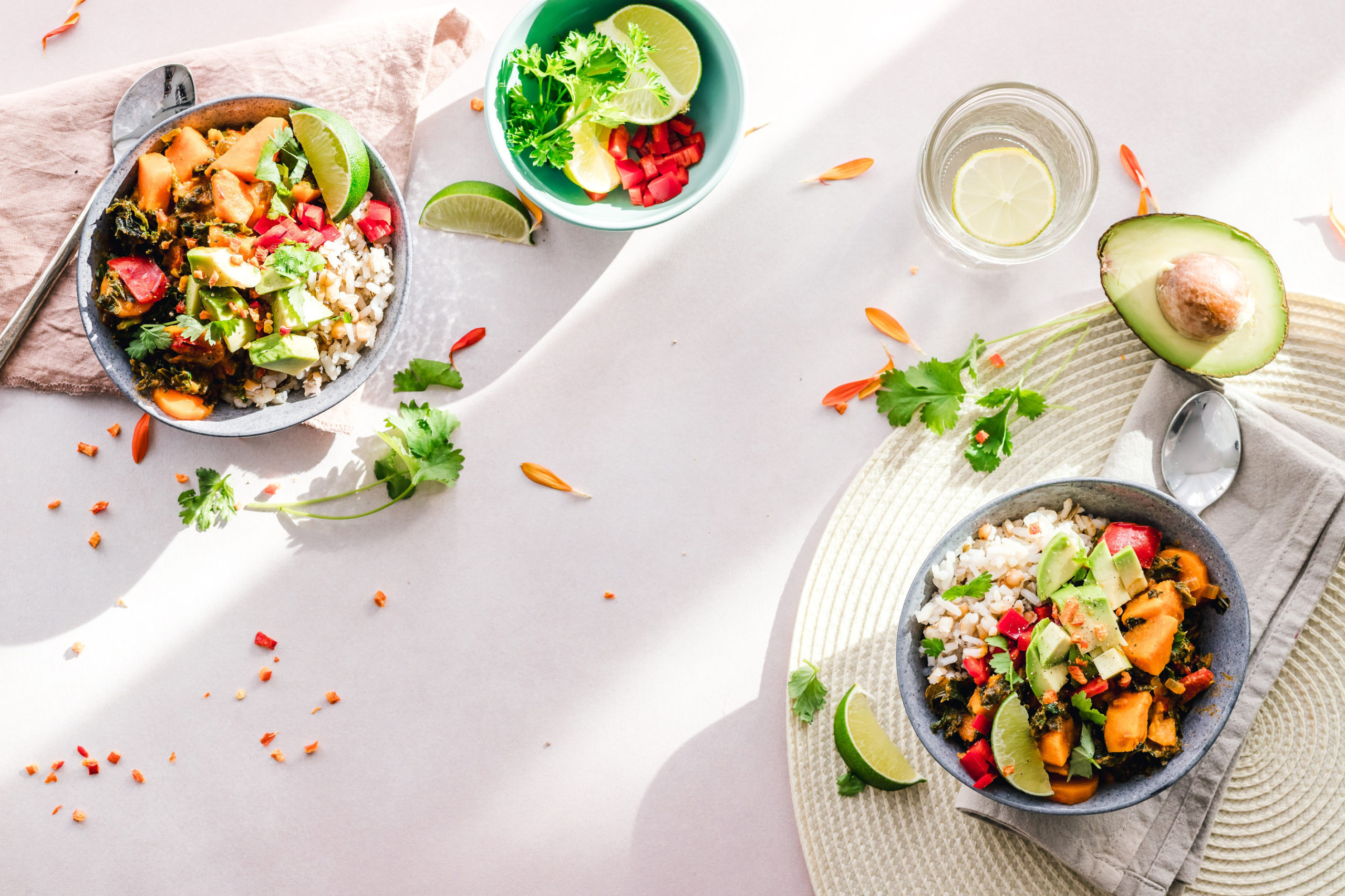 Fresh salads for the new diet