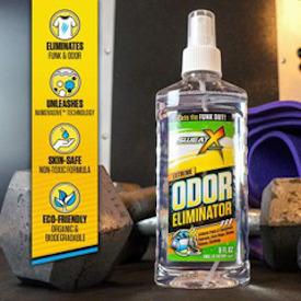 Odor eliminator for your gym bag