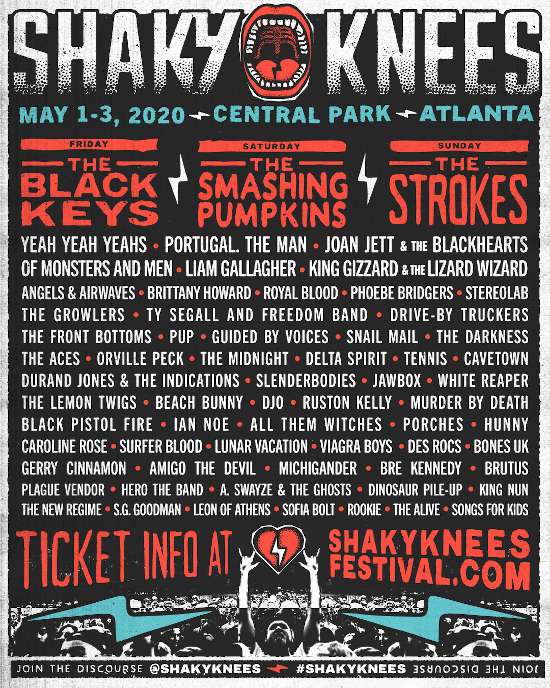 Shaky Knees lineup 2020
