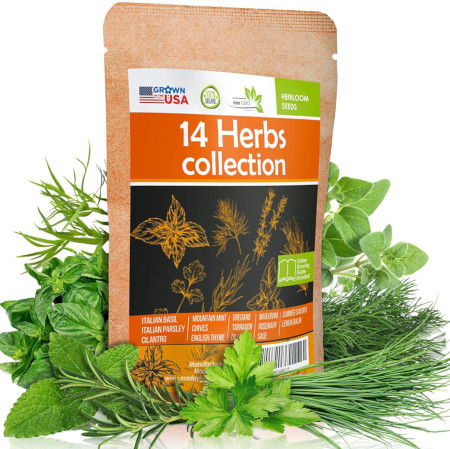 Grow variety of culinary herbs indoor or outdoor.
