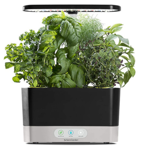 Indoor herb growing kit for 6 plants.