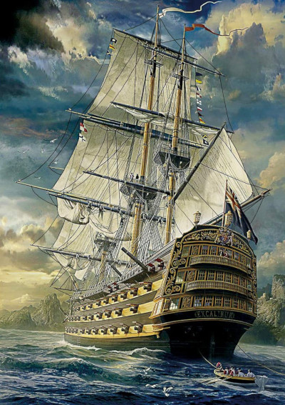 Ingood Age of Discovery Fantasy series 1with 1000 pieces, measures 20 inches by 30 inches.