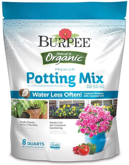 Premium organic quality potting mix for indoor gardening.