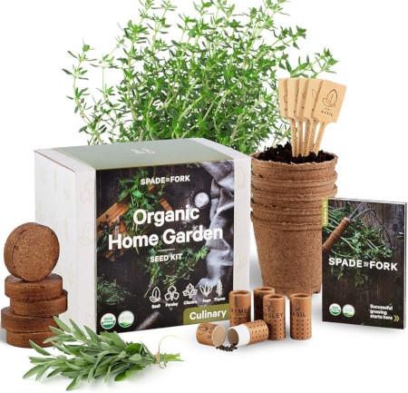 Complete indoor herb garden kit for beginners.