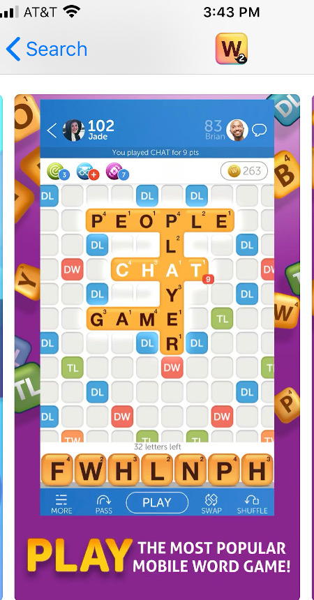 Everybody loves words with friends