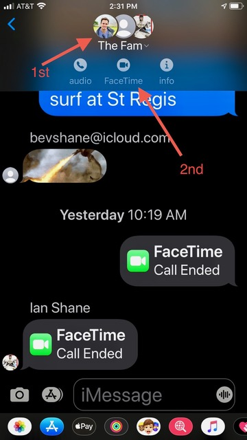 How to enable FaceTime through messaging