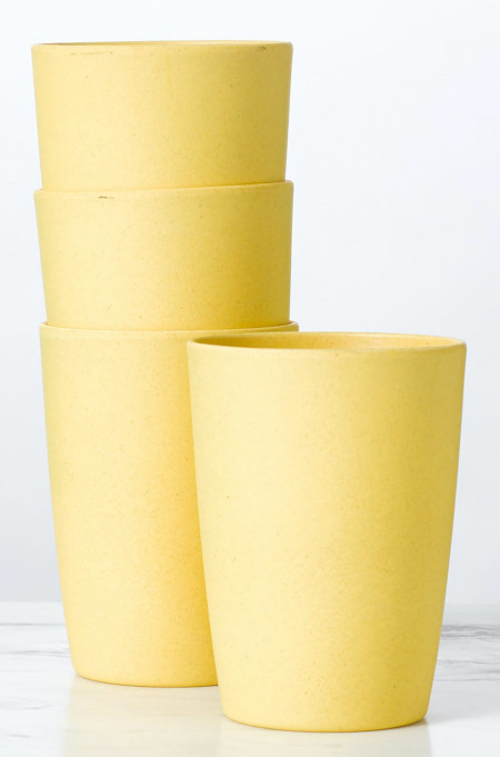 Larger version of sustainable bamboo cups for home or outdoor use.