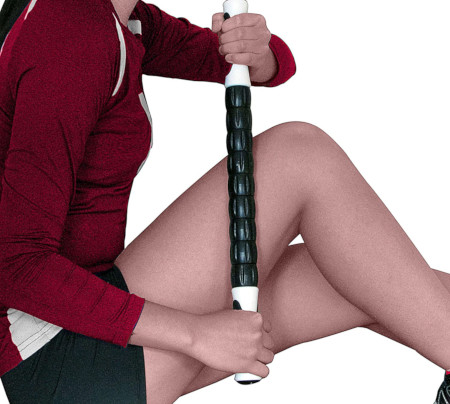 After exercise loosen up sore muscles with this massage device.