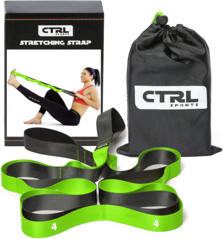 10 therapy grade straps for stretching out tight muscles.
