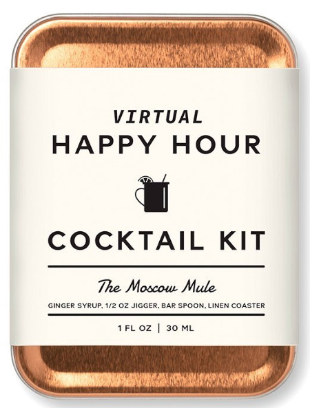 All the items to make a Moscow Mule (without the alcohol).