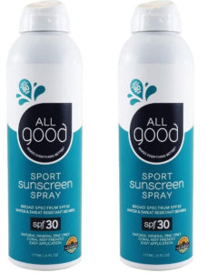 No propellant in this spray sunscreen.