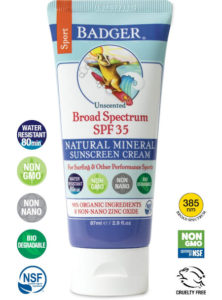 Unscented, biodegradable and ocean-friendly sunscreen is 100% certified natural and 94% certified organic..