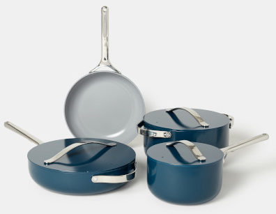 The healthiest materials for pots and pans Four essential cookware pieces that are non-toxic, stovetop agnostic, and oven safe up to 650°F.