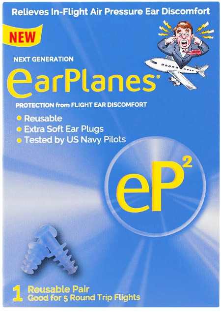 Ear Protection from Flight Air and Noise Sound.