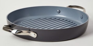 Double handle non stick grill.