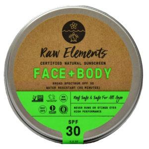 Natural sunscreen come in a refillable tin.
