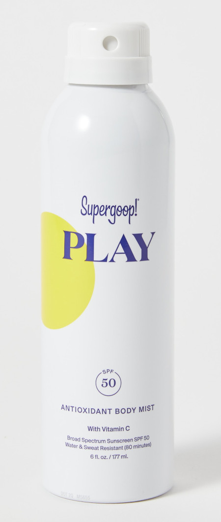 Sport body mist mineral sunscreen.