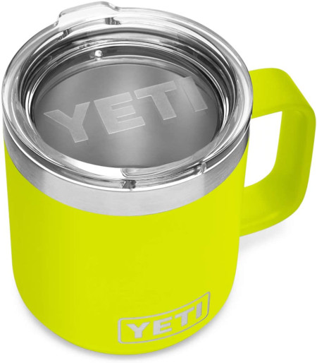 Stackable 10 oz mug with lid and stainless steel interior