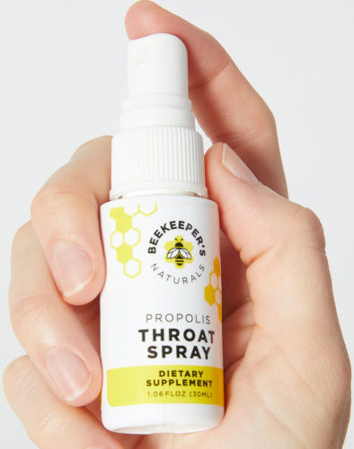 Staying healthy while traveling Effective throat spray that soothes and tastes good.