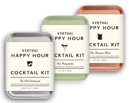 In sets or individual cocktail mixes for the traveler.