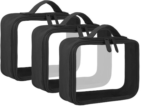 TSA approved, 3 different sizes to meet all your travel needs.