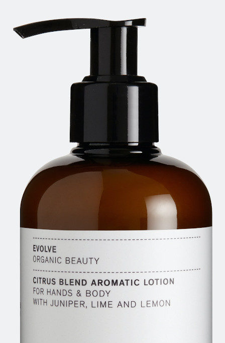 Unisex hand and body lotion made with clean ingredients.