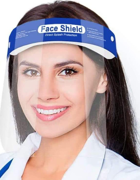 Easy to wear, 180 degree face protection.