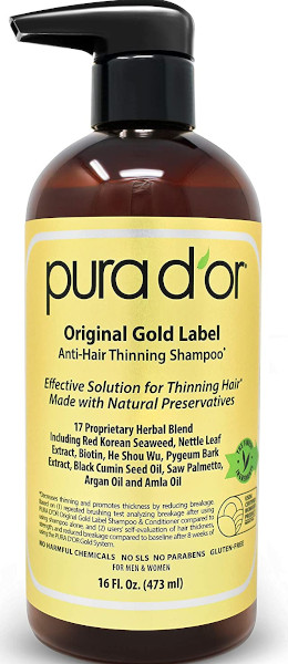 Anti-thinning biotin shampoo (16oz) with argan oil, nettle extract, saw palmetto, red seaweed, and no sulfates, natural preservatives, unisex.